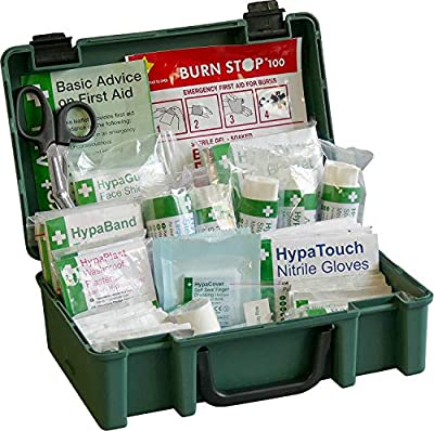 Safety First Aid Group Small British Standard First Aid Kit (BS-8599-1:2019 Compliant) by Safety First Aid