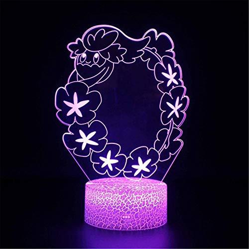 3D-slinger, dimbaar, 7 kleuren, oplaadbaar, USB-touch-bediening, led-nachtlampje, decoratief nachtlampje voor slaapkamer, woonkamer, cadeau voor vrouwen en kinderen