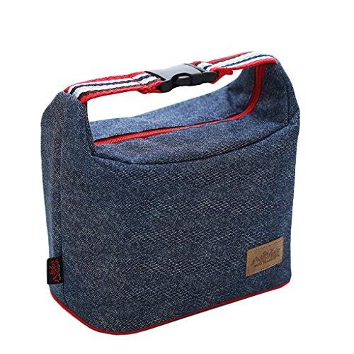 Lunch Cooler Bag - Boîtes à Lunch isolé fourre-Tout pour pour Pique-Nique en Plein air Barbecue Transporteur de Nourriture Voyage école Bureau déjeuner Sac de Transport