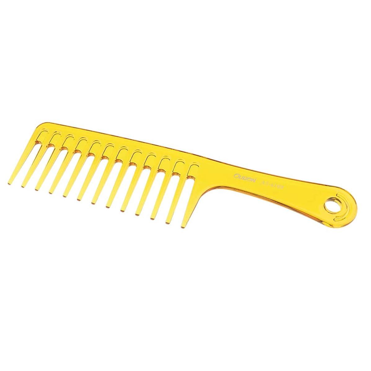 実質的に革命ロシアSM SunniMix 帯電防止櫛 ヘアブラシ 広い歯 櫛 サロン スタイリング ヘアブラシ 2色選べ - 黄
