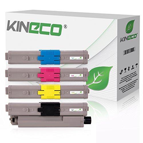 4 Kineco Toner kompatibel mit Oki C532dn MC563dn C542-DN MC573-DN