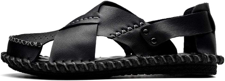 TDPYT Mnner Sandalen Split Leder Schwarz Casual Schuhe Für Mnner Strand Sandalen Marke Mnner Sommer Schuhe
