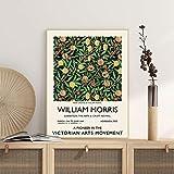 Póster de exposición vintage de William Morris - Impresión de calidad de galería - Arte de pared vintage Sin marco Pintura decorativa en lienzo Q-39 30x40cm