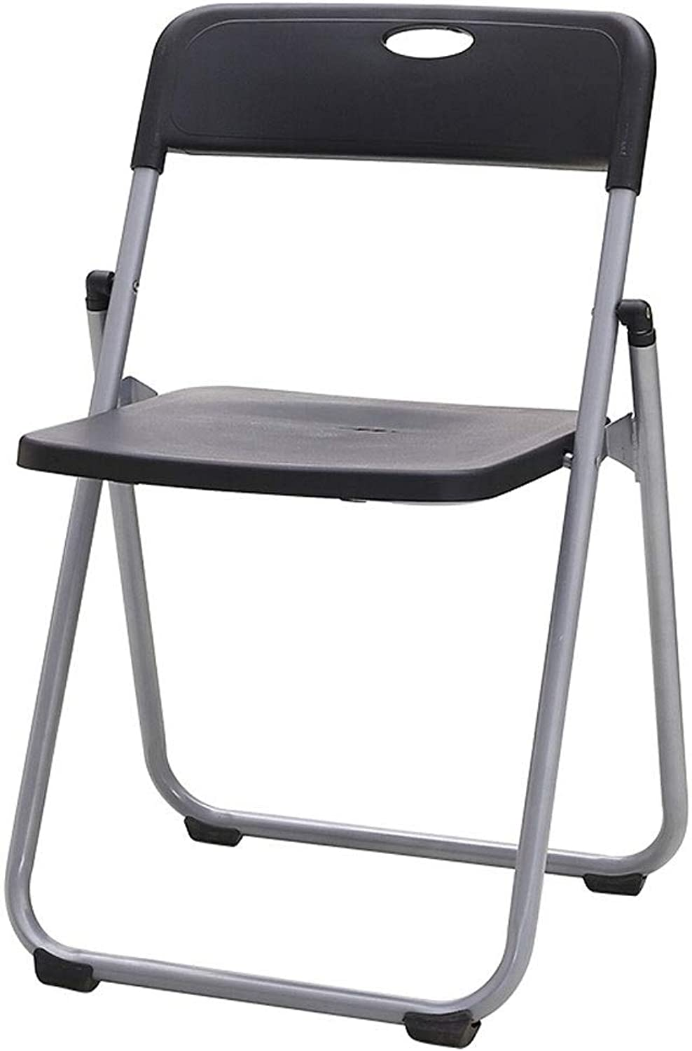 Paddia Comfortable Black Folding Office Chair Computer and Dining Seat Stool Folding Chairs Indoor Folding Chair Seating Folding Stool Desk Chair Office Reception Chair