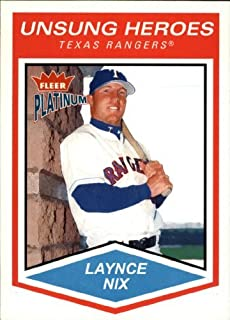 2004 Fleer Platinum #181 Laynce Nix UH MLB Baseball Trading Card