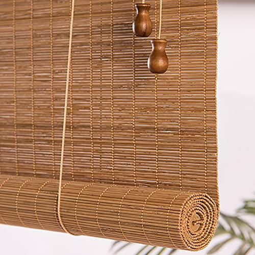 Estores Enrollables Cortina Enrollable Exterior para Puertas de Ventana, Filtrado De Luz Persianas De Bambú Para El Jardín Al Aire Libre Del Balcón Del Gazebo, 80cm / 100cm / 120cm / 140cm De Ancho