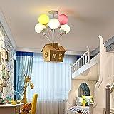 Lámpara de techo LED moderna y sencilla, luz de techo para el hogar, habitación para niños, sala de estar, restaurante, comedor, luces decorativas-6 cabezas
