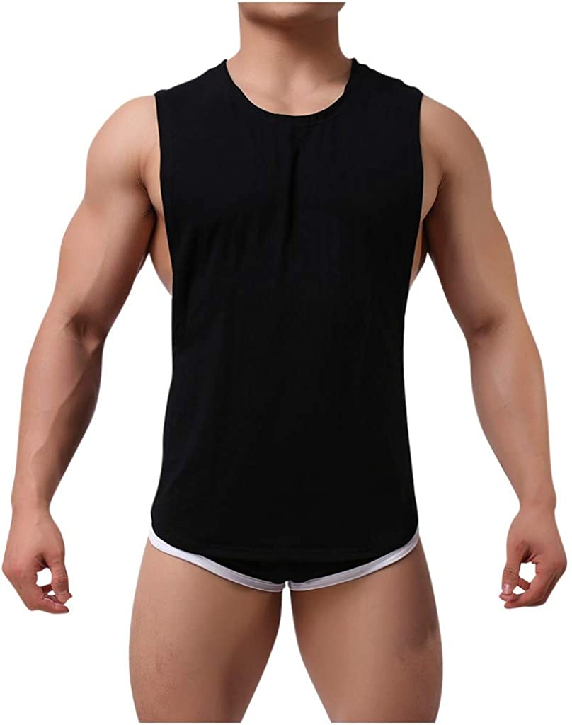 MODOQO 2PCS Men's Casual Tracksuit T-Shirts Summer Slim Fit Sport Shorts Suit