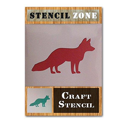 Fox Wild Animal Stehen Mylar Airbrush Malerei Wand-Kunst-Handwerk-Schablone 2 (A5 Größe Stencil - XSmall)
