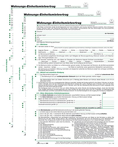 Mietvertrag RNK geprüft (3 Stück, Wohnung)