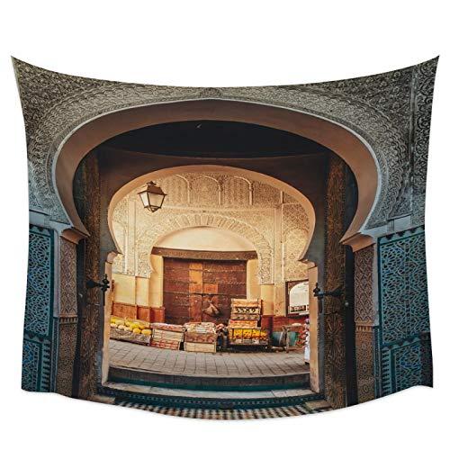 WYCXY Tapiz Moderno de religión Musulmana árabe Manta para Colgar en la Pared Alfombra de Yoga Gran rectángulo decoración artística para el hogar Alfombra de Playa