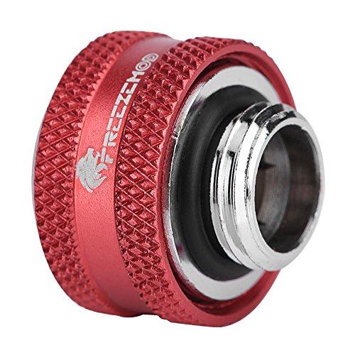 Richer-R Tubo Duro de Acrílico Rígido para Refrigeración por Agua,Kit de Accesorios de Compresión(YGKN-C14MM,Latón)(4PCS Rojo)