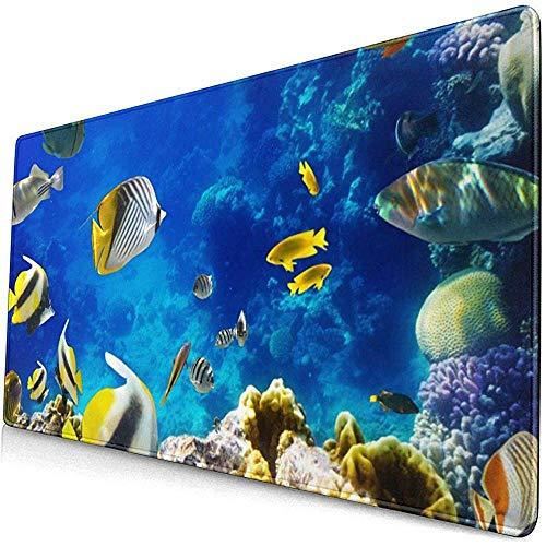Foto van een tropische vis op een koraalrif muismat muismat anti-slip rubber duurzaam