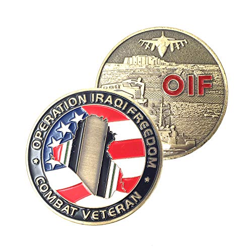 OIF Veterans Military Coin Iraqi Freedom Challenge Coin