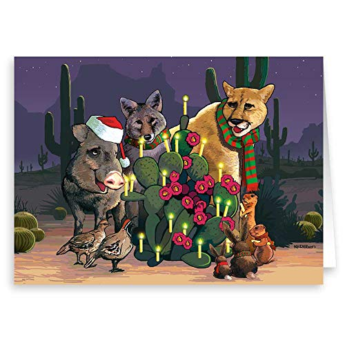 Desert Critters Western Christmas Cards- 18 Boxed Cards & Envelopes