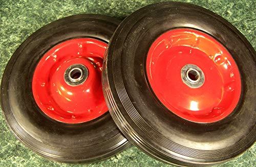 "2pc 10"" inch Solid Rubber Dolly Wheels New Tire Rim Wheel Hard Heavy Duty cart"