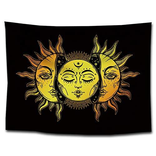 bjyxszd Decoración de Dormitorio Alfombrilla para Yoga Toalla para playaPinturas de decoración de Tapiz de Sol y Luna,Tapiz de hogar Tapiz fotografía Fondo Mantel-1_Los 75 * 100cm