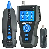 Network Cable Tester LCD Network Tester AT278 Multi-Functional Wire Tracker for RJ45, RJ11, BNC, Metal Cable, PING/POE