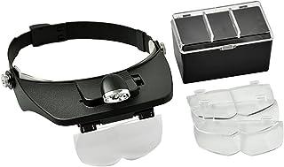 Headlamp Magnifying Glasses LED Light Lamp Head Loupe Jeweler Headband Magnifier Eye Glasses Optical Glass Tool Repair Rea...