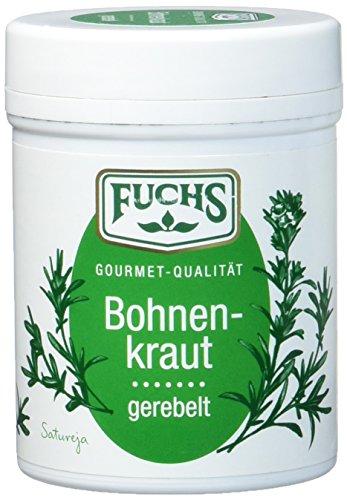 FUCHS Bohnenkraut gerebelt, Gewürz mit leicht pfeffriger Note (aromatische Kräuter in Dose), 3er Pack (3 x 25 g)