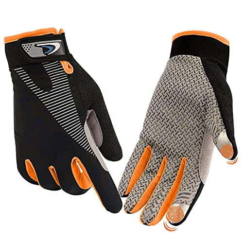 CFTech Cycling Gloves Touchscreen Ultimate Frisbee Gloves Non-Slip Flexible Thin Workout Gloves