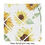 Sweet Jojo Designs Yellow, Green and White Sunflower Boho Floral Fabric Memory Memo Photo Bulletin...