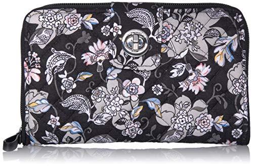 Vera Bradley Signature Cotton Turnlock Wallet with RFID Protection, Holland Garden