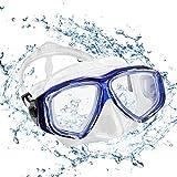 Depory Taucherbrille Erwachsene Schnorchelbrille Schwimmbrille Tauchmaske Wasserdicht Lecksicher UV...