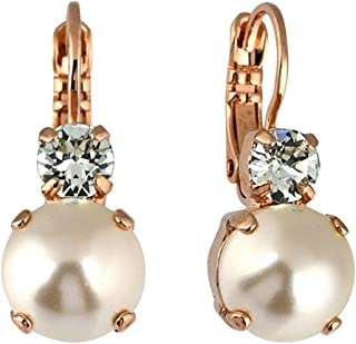 Jewelry Seashell Earrings, Rose Gold Plated with Crystal, Nature Collection MAR-E-1062 39361 RG6
