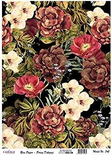 Cadence Papel de Arroz Collage Flores 30x41cm