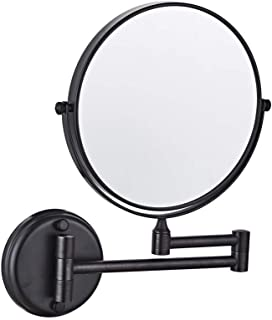 BMJ&C Shaving Mirror 5X Magnification Normal Double-Sided Round Bathroom Vanity Mirror Swivel, Extendable Mirror (Color : 05, Size : 8 inch/5×)