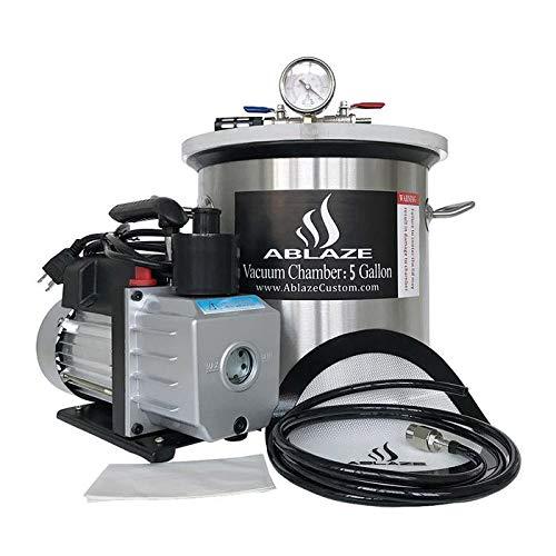 ABLAZE Gallon Stainless Degassing Chamber