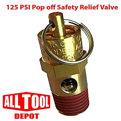 "Control Devices ST Series Brass ASME Safety Valve 1/4"" NPT 125 PSI 49 SCFM from Best In USA"