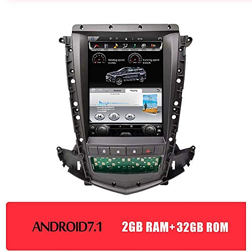 LFEWOZ Bluetooth Android 10.4 Zoll FM AM Autoradio Music Radio Digital Media - Anwendbar für den Zeitraum 2009-2012 Cadillac SRX, GPS-Navigation MP3 Multimedia Navigator-Player