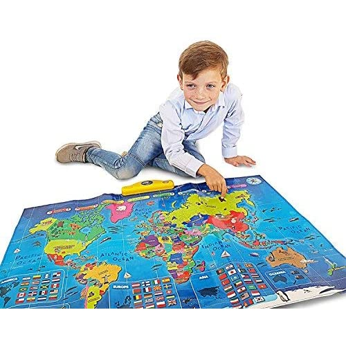 3230d71a427be6 Interactive Talking World Map for Kids TG661 - Push