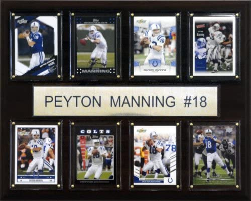 NFL Peyton Manning Indianapolis Colts 8 Card Plaque product image