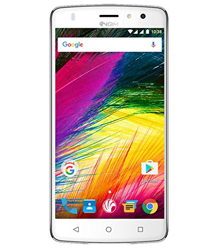 NGM-Mobile You Color Smart 5 Plus Dual SIM 4G 16GB White - smartphones (12.7 cm (5 ), 16 GB, 16 MP, Android, 6.0 Marshmallow, White)