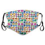Colorido ojo gafas filtro bolsillo lavable reutilizable Halloween Party Cosplay al aire libre protección tela cara escudo bandanas