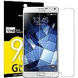 NEW'C 3 Stück, Schutzfolie Panzerglas für Samsung Galaxy Note 4, Frei von Kratzern, 9H Festigkeit, HD Bildschirmschutzfolie, 0.33mm Ultra-klar, Ultrawiderstandsfähig
