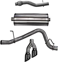 Corsa 14748BLK Cat Back Exhaust with Black Tip (Chevrolet Suburban)