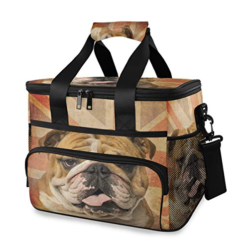 Ice Pack Student Lunch Bag schouderriem Een Engelse bulldog keuchend koelbox draagbare picknick