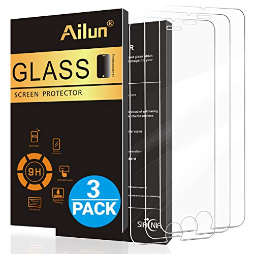 AILUN Screen Protector Compatible with iPhone 7 Plus iPhone 8 Plus iPhone 6 Plus iPhone 6s Plus 3 Pack 0.25mm 2.5D Edge Tempered Glass Anti Scratches Case Friendly Siania Retail Package