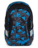 Satch SLEEK Blue Triangle 3er Set Schulrucksack + Sporttasche + Schlamperbox