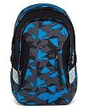 Satch Schulrucksack-Set 2-TLG Sleek Blue Triangle Blau
