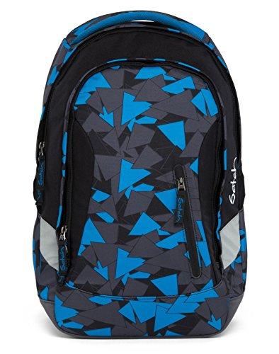 Satch SLEEK Blue Triangle 2er Set Schulrucksack + Schlamperbox