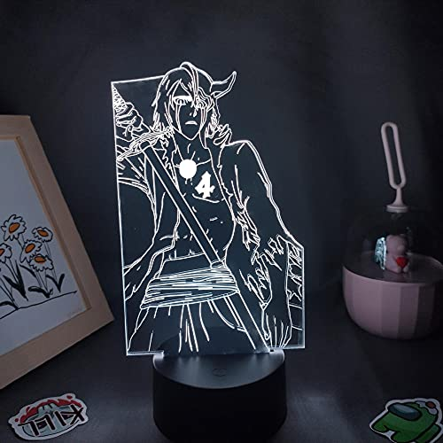 Figura de Anime Bleach Ulquiorra Cifer Lámparas 3D Ilusión Led Luces de noche Cool Neon para amigos Manga Decoración de mesa de dormitorio-No_Remote