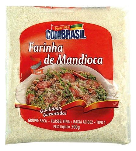 Maniokmehl roh, Beutel 500g - Farinha de Mandioca Branca COMBRASIL