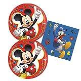 Procos 10133060 - Juego de Accesorios para Fiestas con diseño de Mickey Mouse y Donald Duck, Multicolor