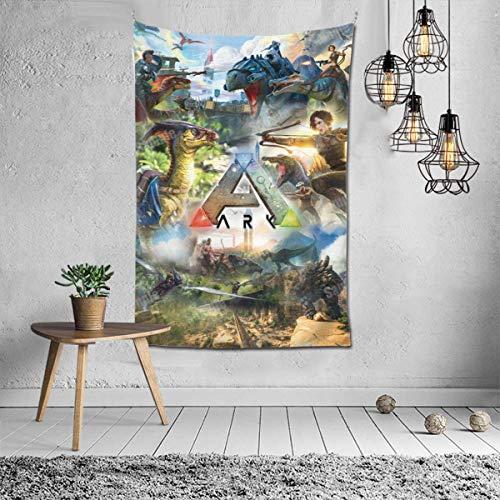 shibeili Spiel ARK Survival Evolved Poster Personalisieren Sie einfach hängende Wandteppiche, Stoff Tischdecke kann für Wohnzimmer Hotel Apartment Wanddekoration 40x60 Zoll verwendet Werden