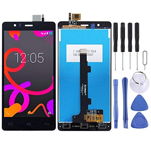 AUDREY Pantalla LCD y digitalizador Asamblea Completa de BQ Aquaris E5 (0759) (Negro) Pantalla Completa (Color : Black)